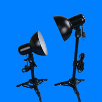 Photography Light Kit, Aluminum, lampshade & light stand, stoving varnish, nickel, lead & cadmium free, 260-400mm, Sold By Pair