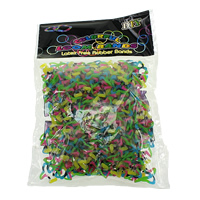 Loom Bands, Rubber, Fish, different packing style for choice & for children, multi-colored, 1mm, Sold By Bag