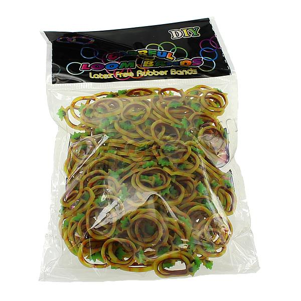 Loom Bands, Rubber, Pineapple, different packing style for choice & for children, multi-colored, 1mm, Sold By Bag