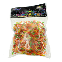 Loom Bands, Rubber, Apple, different packing style for choice & for children, multi-colored, 1mm, Sold By Bag
