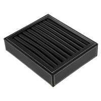 Ring Display Tray, Wood, with Sponge & PU, Rectangle, more colors for choice, 197x160x43mm, Sold By PC