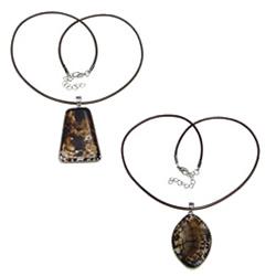 Agate Nylon Cord Necklace