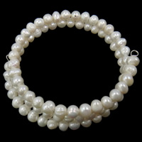 Cultured Freshwater Pearl Bracelets, 3-strand, more colors for choice, 5-6mm, Length:15 Inch, Sold By Strand