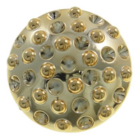Acrylic Button Findings, Flat Round, gold color plated, 50x18mm, Hole:Approx 3mm, Inner Diameter:Approx 6mm, Sold By PC