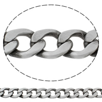 Aluminum Curb Chain, antique silver color plated, brushed, nickel, lead & cadmium free, 21x27x5mm, Sold By m