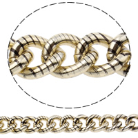 Aluminum Twist Oval Chain, painted, nickel, lead & cadmium free, 19x23x5mm, Sold By m