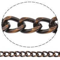 Aluminum Curb Chain, antique copper color plated, brushed, nickel, lead & cadmium free, 15x20x3.5mm, Sold By m