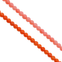 Natural Coral Beads, Round, more colors for choice, 4mm, Hole:Approx 1mm, Length:Approx 15.7 Inch, Approx 100PCs/Strand, Sold By Strand