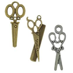 Zinc Alloy Scissors Pendants