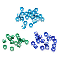 Aluminum Spacer Bead, Rondelle, painted, more colors for choice, nickel, lead & cadmium free, 6x4mm, Hole:Approx 2mm, Approx 1000PCs/Bag, Sold By Bag