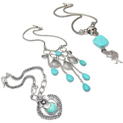 Turquoise Iron Chain Necklace