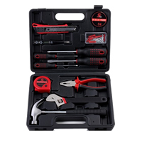 Plastic Auto Repair Tool Kit, with Stainless Steel, Rectangle, 270x220x60mm, Sold By Set