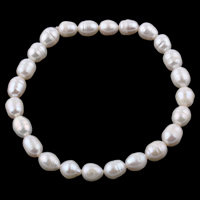 Freshwater Pearl Bracelet, 7-8mm, Length:7.5 Inch, Sold By Strand