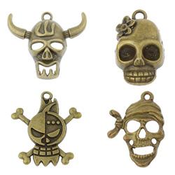 Zinc Alloy Skull Pendants