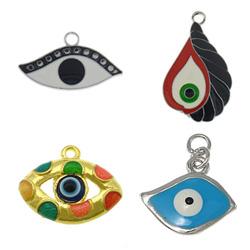 Zinc Alloy Evil Eye Pendant