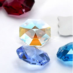 Octagon Crystal Beads