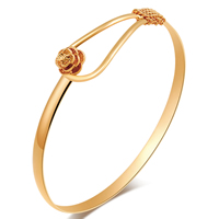 Gets® Jewelry Bracelet, Brass, 18K gold plated, nickel, lead & cadmium free, 14mm, Inner Diameter:Approx 61mm, Length:Approx 7.5 Inch, Sold By PC
