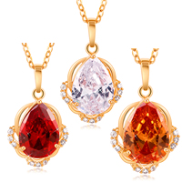 Gets® Jewelry Pendant, Brass, 18K gold plated, with cubic zirconia & faceted, more colors for choice, nickel, lead & cadmium free, 15x18mm, Hole:Approx 3-5mm, Sold By PC