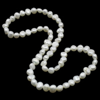 Cultured Freshwater Pearl Bracelets, Baroque, 2-strand, more colors for choice, 7-8mm, Length:Approx 15 Inch, Sold By Strand