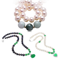 Gemstone Freshwater Pearl Necklace