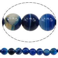 Natural Lace Agate Beads, Customized & more sizes for choice, sea blue, Length:Approx 15 Inch, Sold By Strand