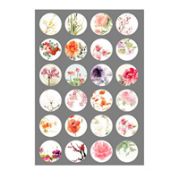Time Gem Glue Picture, Paper, time gem jewelry & DIY & with flower pattern & mixed, 18mm, Sold By PC