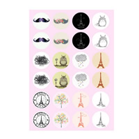 Time Gem Glue Picture, Paper, time gem jewelry & DIY & mixed, 18mm, Sold By PC