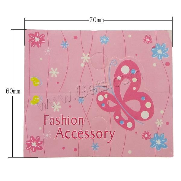 Cardboard Necklace & Bracelet Display Card, Rectangle, pink, 70x60x0.5mm, Hole:Approx 7mm, Sold By PC