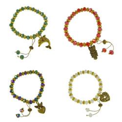 Zinc Alloy Crystal Bracelets