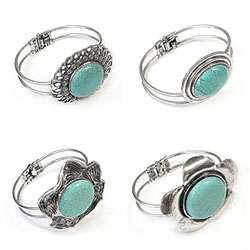 Turquoise Zinc Alloy Bangle