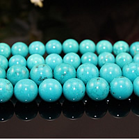 Natural Turquoise Beads, Round, different size for choice, turquoise blue, Sold By PC