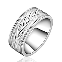 comeon® Finger Ring, Brass, real silver plated, different size for choice, 21x8mm, Sold By PC