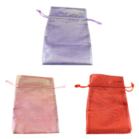 Polyamide Drawstring Pouches, with Nylon Cord, Rectangle, more colors for choice, 115x160x3mm, Sold By PC