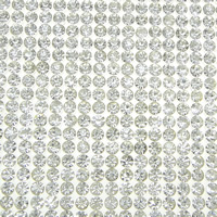 Rhinestone Hot Fix Motif, with Glue Film, Rectangle, clear, 396x239x1.5mm, Sold By PC