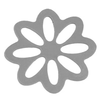 Stainless Steel Jewelry Cabochon, Flower, flat back, original color, 15x16x0.5mm, Sold By PC