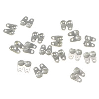 Sterling Silver Bead Tip, 925 Sterling Silver, plated, more colors for choice, 5x4.5x1mm, Hole:Approx 0.5mm, 200Pairs/Bag, Sold By Bag