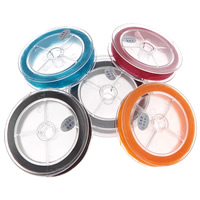 Elastic Thread, with plastic spool, Flat Round, Japanese imported, more colors for choice, 0.8mm, Approx 85m/PC, Sold By PC