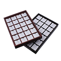 Wood Display Case, with PU & Plastic, Rectangle, more colors for choice, 280x180x27mm, Sold By PC