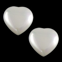 Half Drilled South Sea Shell Beads, Heart, half-drilled, white, 12x12x4.5mm, Hole:Approx 0.8mm, Sold By PC