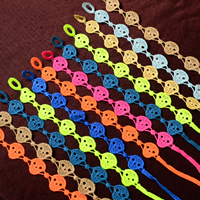Friendship Bracelets, Lace, Skull, adjustable, mixed colors, 15mm, Length:Approx 9 Inch, Sold By Strand