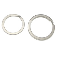 Stainless Steel Split Ring, Donut, different size for choice, original color, Sold By PC