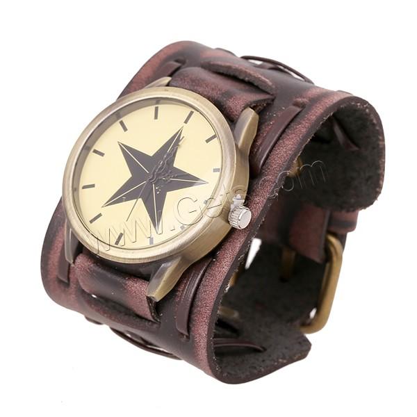 Часы новые мужские ретро кожа часы широкий кожаный браслет персонализированные кожаный браслет часы завода прямого