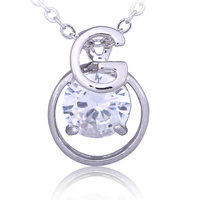 Gets® Jewelry Pendant, Brass, platinum plated, with cubic zirconia & faceted, nickel, lead & cadmium free, 12x18mm, Hole:Approx 3-5mm, Sold By PC