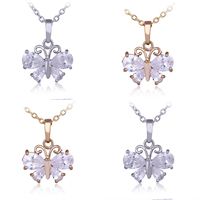 Gets® Jewelry Pendant, Brass, Butterfly, plated, with cubic zirconia & faceted, mixed colors, nickel, lead & cadmium free, 15x20mm, Hole:Approx 3-5mm, 2PCs/Bag, Sold By Bag