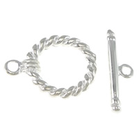 Brass Toggle Clasp, plated, single-strand, more colors for choice, 17x13x2mm,2x17mm, Hole:Approx 2mm, Sold By Set