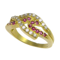 Cubic Zirconia Micro Pave Brass Finger Ring, plated, micro pave cubic zirconia, more colors for choice, nickel, lead & cadmium free, 9mm, US Ring Size:6.5, Sold By PC