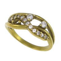 Cubic Zirconia Micro Pave Brass Finger Ring, plated, micro pave cubic zirconia, more colors for choice, nickel, lead & cadmium free, 7mm, US Ring Size:6.5, Sold By PC
