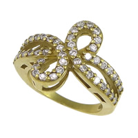 Cubic Zirconia Micro Pave Brass Finger Ring, plated, micro pave cubic zirconia, more colors for choice, nickel, lead & cadmium free, 15mm, US Ring Size:5.5, Sold By PC