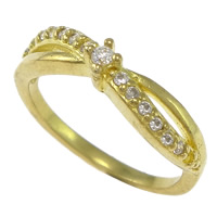 Cubic Zirconia Micro Pave Brass Finger Ring, plated, micro pave cubic zirconia, more colors for choice, nickel, lead & cadmium free, 4mm, US Ring Size:6, Sold By PC