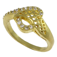 Cubic Zirconia Micro Pave Brass Finger Ring, plated, micro pave cubic zirconia & hollow, more colors for choice, nickel, lead & cadmium free, 11.5mm, US Ring Size:8, Sold By PC